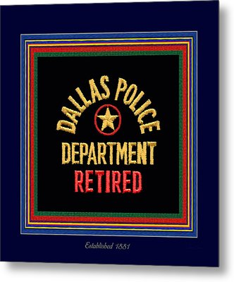 Replica D P D Patch - Retired With Epaulette Colors Metal Print by Robert J Sadler