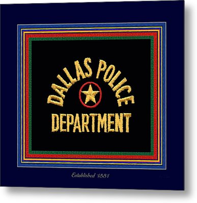 Replica Dpd Patch With Epaulette Colors Metal Print by Robert J Sadler