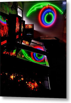 Replicant Arcade Metal Print by Benjamin Yeager