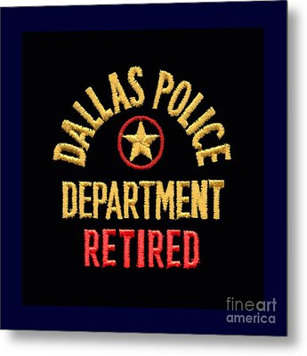 Replica D P D Patch - Retired Metal Print by Robert J Sadler