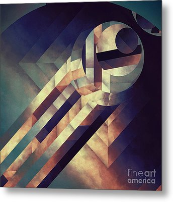 Repressed Elipse Metal Print by Lonnie Christopher