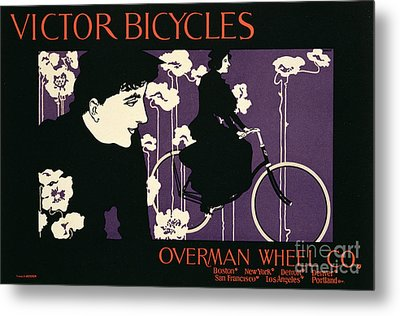 Reproduction Of A Poster Advertising Victor Bicycles Metal Print by American School