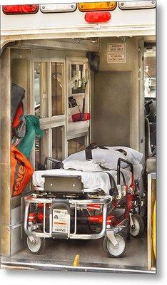 Rescue - Inside The Ambulance Metal Print