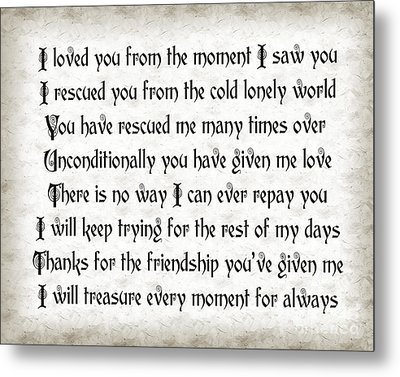 Rescue Love Metal Print by Andee Design
