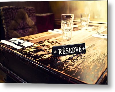 Reservations Required Metal Print by Tanya Harrison