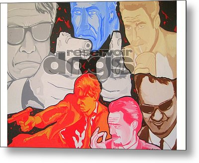 Reservoir Dogs Tribute Metal Print by Gary Niles