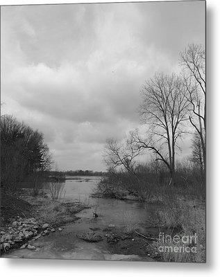 Reservoir In Winter  Metal Print by Sara  Raber
