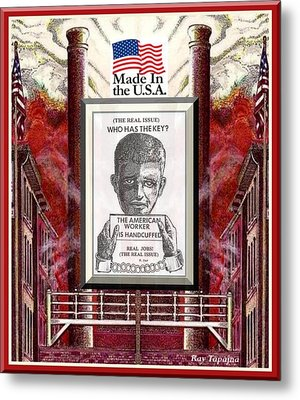 Reshoring The American Dream Metal Print by Ray Tapajna