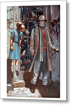 Resistance At The Threshold Metal Print by William Stoneham