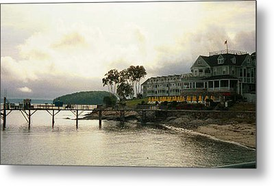 Resort In Bar Harbor Metal Print