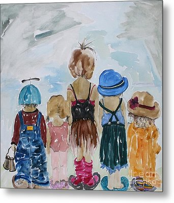 Respectively Dedicated To Childhood Metal Print by Vicki Aisner Porter