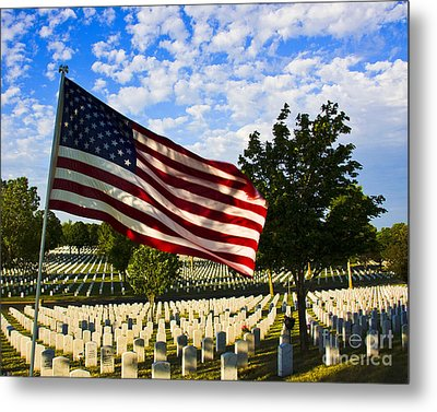 Rest In Peace Fort Snelling National Cemetery Metal Print by Wayne Moran