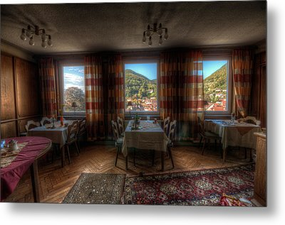 Restaurant  Metal Print by Nathan Wright