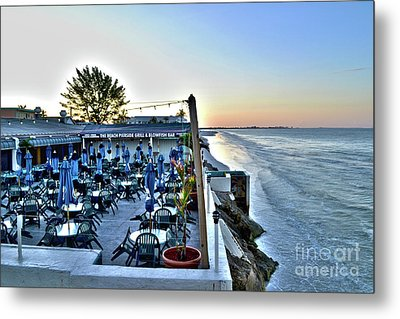 Restaurant On Fort Myers Beach Florida Metal Print by Timothy Lowry