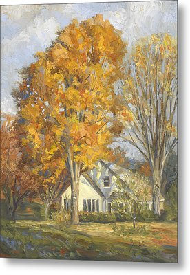 Restful Autumn Metal Print by Lucie Bilodeau