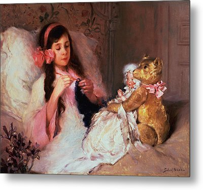 Restful Company Metal Print by Gabriel Nicolet