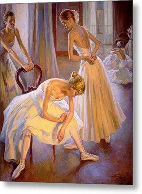 Resting Dancers Metal Print