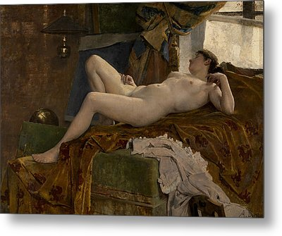 Resting Model Metal Print by Auguste Durst