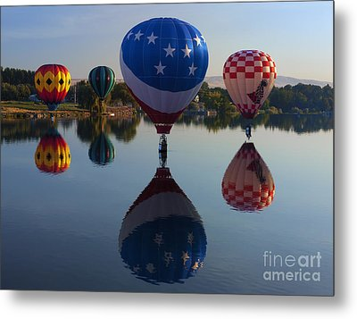 Resting On The Water Metal Print by Mike  Dawson