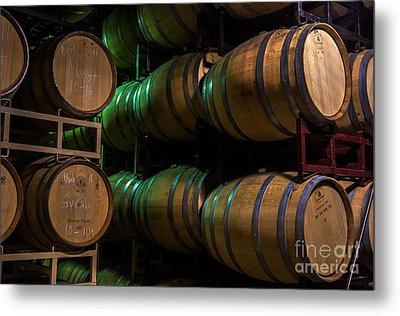 Resting Wine Barrels Metal Print by Iris Richardson