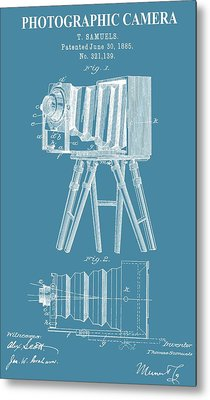 Restored Camera Patent Metal Print by Dan Sproul