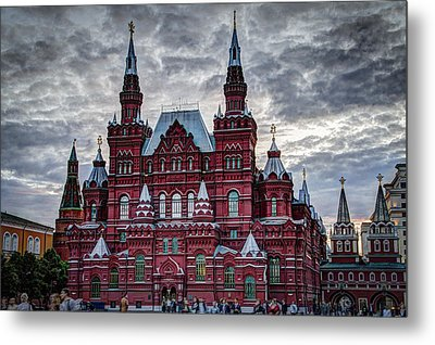 Resurrection Gate And Iberian Chapel - Red Square - Moscow Russia Metal Print by Jon Berghoff