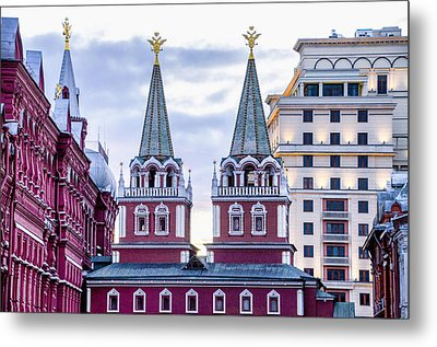 Resurrection Gate - Red Square - Moscow Russia Metal Print by Jon Berghoff