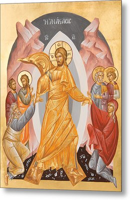 Resurrection Of Christ Metal Print by Julia Bridget Hayes