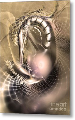 Rete Temporis - Abstract Art Metal Print by Sipo Liimatainen