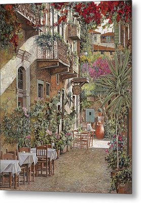 Rethimnon-crete-greece Metal Print by Guido Borelli