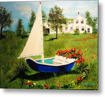 Retired In Cape Cod Metal Print by Diane Arlitt