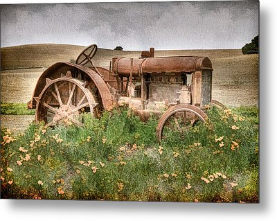 Retired In Poppies Metal Print by Donna Kennedy