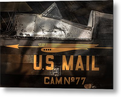 Retired Mail Carrier - Pitcairn P-6 Mailwing 1929 Metal Print by Gary Heller