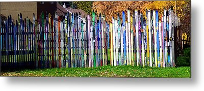 Metal Print featuring the photograph Retired Skis  by Jackie Carpenter