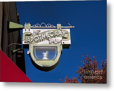 retro Apothecary shop sign Metal Print