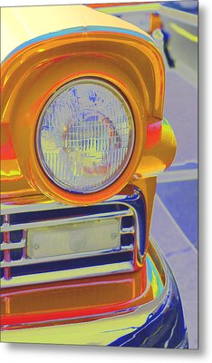 Metal Print featuring the photograph Retro Auto Two by Denise Beverly