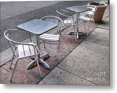 Retro Cafe Metal Print by Olivier Le Queinec
