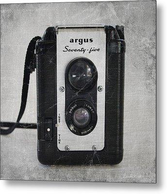 Retro Camera Metal Print by Linda Woods