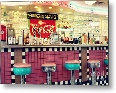 Retro Diner Metal Print by Sylvia Cook