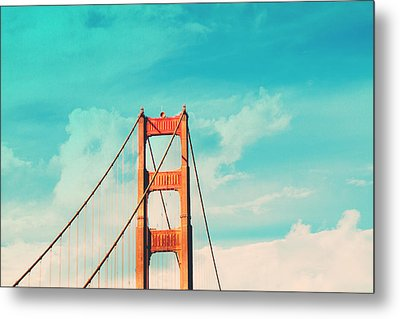 Retro Golden Gate - San Francisco Metal Print by Melanie Alexandra Price