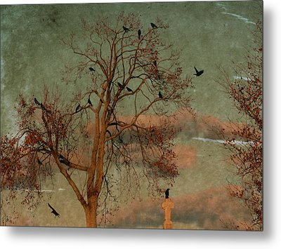 Retro Gothic Sky Metal Print by Gothicrow Images