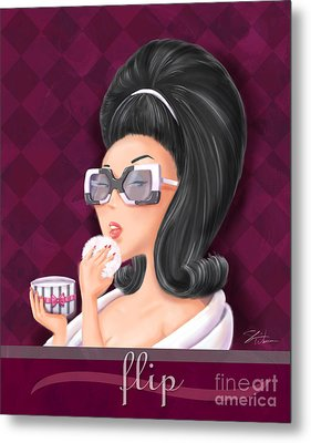 Retro Hairdos-flip Metal Print by Shari Warren