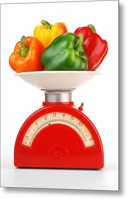 Retro Kitchen Scale Metal Print
