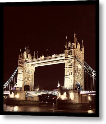 Retro Tower Bridge Metal Print by Heidi Hermes