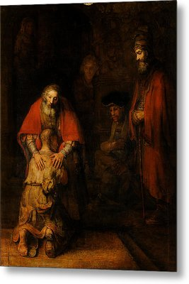 Return Of The Prodigal Son  Metal Print by Rembrandt van Rijn