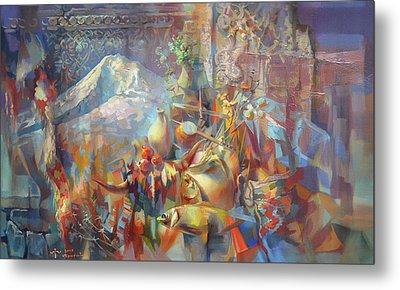 Return To Ararat Metal Print by Meruzhan Khachatryan