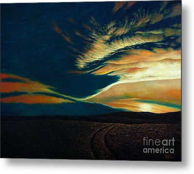 Returning To Tuscarora Mountain Metal Print by Christopher Shellhammer