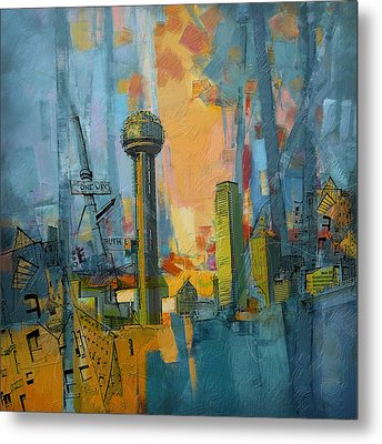 Reunion Tower Metal Print by Corporate Art Task Force