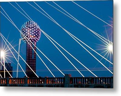 Reunion Tower Metal Print
