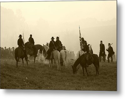 Reviewing The Troops I - Perryville Ky Metal Print by Thia Stover